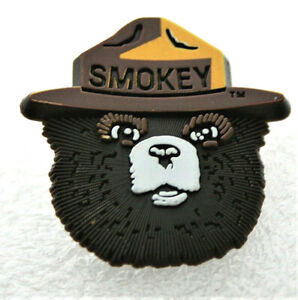 Classic Smokey The Bear Face In Ranger Hat Wildfires Pin Button NOS New 2000's
