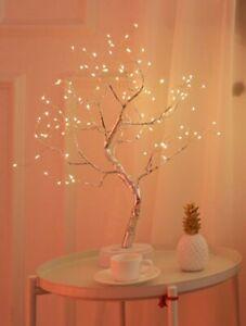 Bonsai Tree 108 LED Warm Light Decorative Silver Easter Lamp Home Interior