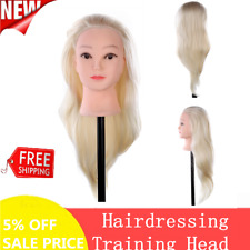 Long Hair Hairdressing Training Head Dummy Model Practice Mannequin + Clamp Us