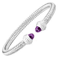 Charles Garnier Albany Woven Cuff Bracelet With Amethyst