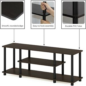 TV Modern Entertainment Stand Console Furniture Media Center Table 3-tier