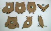 MDF Wooden Owl Cut Out Shapes, Craft making, Decorations, Painting