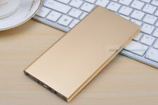 Ultrathin 50000mah Portable 2usb LED Metal Battery Charger Power Bank for Phone Gold