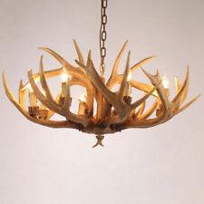 Rustic Vintage Resin Deer Horn Antler Large Candelabra Chandelier Pendant Light