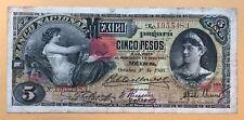 Mexico 5 Pesos 1906 S257C - Beautiful Scarce Note
