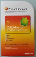 Office 2010 Home and Student Vollversion Deutsch PKC 79G-02024