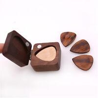 Walnut Guitar Pick Box Plectrum Holder Case for Guitar Lover Musical Gift