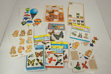 Lot Vtg Half Used Sticker Sheets 70s 80s Butterflies Birds Animals Balloons