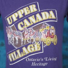 vintage 80s UPPER CANADA VILLAGE ONTARIO T-Shirt XS/S horse buggy cowboy thin