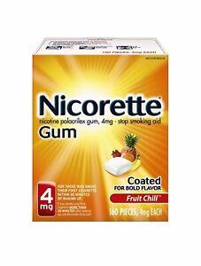 Nicorette Gum 4mg Fruit Chill 160 Pieces Exp 2022