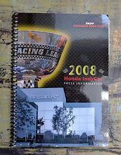 2008 Honda IndyCar Press Information Indy Racing Includes Dan Wheldon HTF