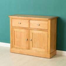 Hampshire Oak Sideboard with Plinth / Drawers & Cupboard / Light Oak Solid Wood