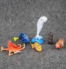6Pcs set Finding Nemo 2 Dory Marlin Hank Bailey Fish Cartoon Model Cake Toppers