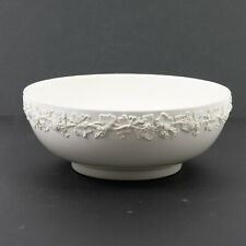 Wedgwood Queen's Ware Embossed Cream Grapevine Serving Bowl Centerpiece 10""
