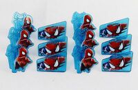 Spiderman Web-Slinger Rings, 12 Pack Cupcake Toppers, Two Designs, Party Favors