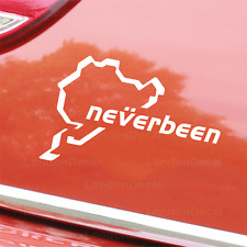 NEVERBEEN NURBURGRING - Car Window Bumper Vinyl Decal Sticker (M)