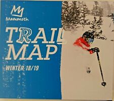 Mammoth Mountain Trial Map 2018 2019 - Physical Copy