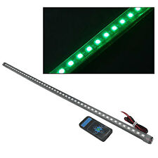 56cm 48 LED 5050 Waterproof Flash Car Knight Rider Strip Lights w/Remote Green