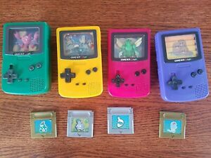 Set of 4 Pokemon Mini Gameboy Color Burger King Toys