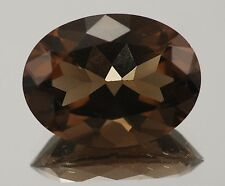 11x9mm OVAL-FACET STRONG-BROWN NATURAL AFRICAN SMOKEY QUARTZ GEMSTONE