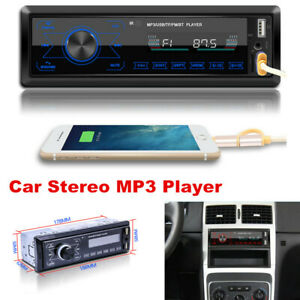 Bluetooth Car Stereo Audio In-Dash Aux Input Receiver FM SD USB MP3 Radio Player