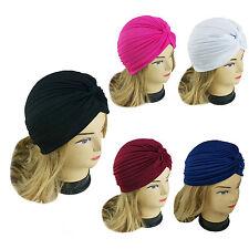 5 PCS Lady Stretchy Turban Head Wrap Chemo Bandana Hijab Pleated Indian Cap Hat