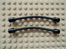 Lego 2 x Schlauch Hose Flexverbinder 73590c02a schwarz  8.5L  10088 7298 5988