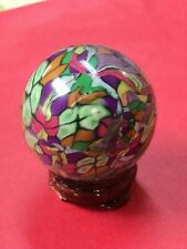 "Handmade Clay Art Marble, 1 1/2"" Finished W/ UV Resin By Artist C. Britt"