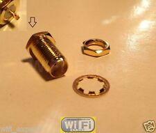 1 x SMA Female Bulkhead Solder panel mount straight RF Connector Adapter One USA