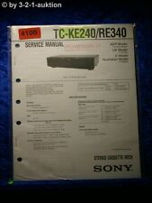 Sony Service Manual TC KE240 /RE340 Cassette Deck (#4100)