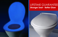 BLUE GLOW in the dark toilet seat-antimirobial coating