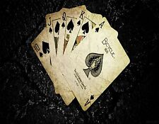 ROYAL FLUSH SPADES POKER MOUSE PAD  IMAGE FABRIC TOP RUBBER BACKED