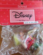 "Vintage Walt Disney Dwarfs Schmid Ceramic Ornament - Doc & Violin 2.5"""