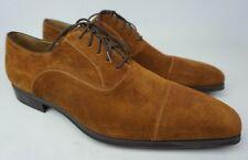 Magnanni Coque Brown Cognac Suede Men's Oxford Shoes Size 11.5 M
