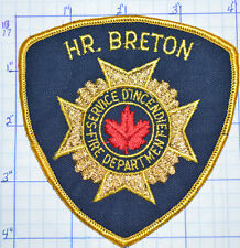 CANADA, HR. (HARBOUR?) BRETON FIRE DEPT SERVICE D'INCENDIE PATCH