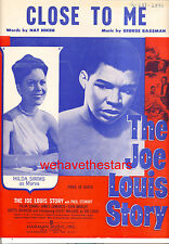 "JOE LOUIS STORY Sheet Music ""Close To Me"" Paul Stewart Hilda Simms BOXING"