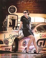 Ashley Force Hood Reprint Signed 8x10 Photo RP John Force Racing Drag Racer
