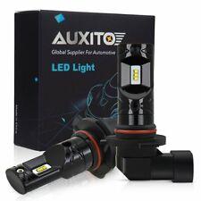2X AUXITO H10 9140 9145 LED Fog Light CSP Total 2600LM 6000K White Bulb FOR RAM