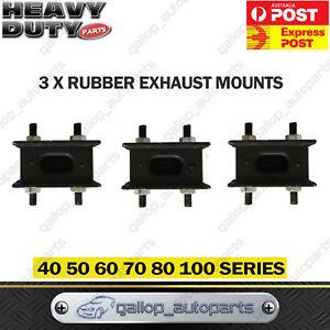 For Toyota Landcruiser FJ62 FJ60 HZJ80 HDJ80 Series Exhaust Mount Rubber Set 3pc