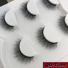 3 Pairs 3D False Eyelashes Black Soft Short Natural Thick Makeup Mink Eye Lashes