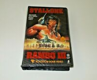 Rambo 3 VHS Pal Roadshow Big box ex rental Original case Stallone