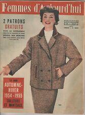 Femmes d'Aujourd'hui N°487 du 29 août 1954 avec son patron T42  Calvo J. Trubert