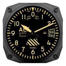 "Trintec 6"" Vintage Altimeter Instrument Style Clock 9060V A Great Aviation Gift"