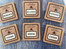 "Vintage Rare ""Name Your Poison"" Set of 6 Collectible Coasters"
