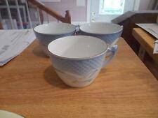 3 Bing & Grondahl SEAGULL #103 Cups - Blue Background w/Seagulls