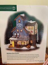 "Dept. 56 New England Village ""Hutchison Grain Elevator� New!"