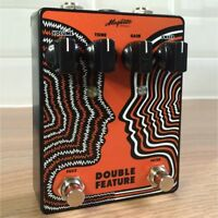 Magnetic Double Feature Fuzz and Fixed Wah True Bypass Guitar Effects Pedal