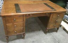 Vintage Maple Wood Varnished Executive Desk