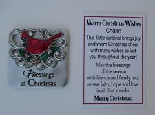 zzH Blessings at Christmas Warm Christmas Wishes Pocket token charm Cardinal