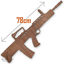 BRITISH ARMY SA80 RIFLE FULL SIZE WOODEN TRAINING DRILL GUN L85A2 LAZER CUT